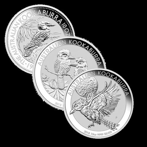 10 Unzen Silber Kookaburra diverse Jahrgänge
