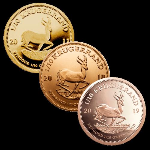 1/10 Unze Goldmünze Krügerrand | Vorderseite Goldmünze Krügerrand 1/10 Unze von South African Mint