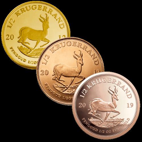 1/2 Unze Goldmünze Krügerrand | Vorderseite Goldmünze Krügerrand 1/2 Unze von South African Mint