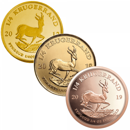 1/4 Unze Goldmünze Krügerrand | Vorderseite Goldmünze Krügerrand 1/4 Unze von South African Mint