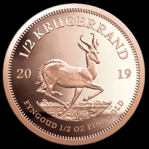 1/2 Unze Gold Krügerrand 2021 (lagernd Frankfurt)