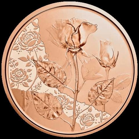 15 g Kupfer Mit der Sprache der Blumen Rose 2021
