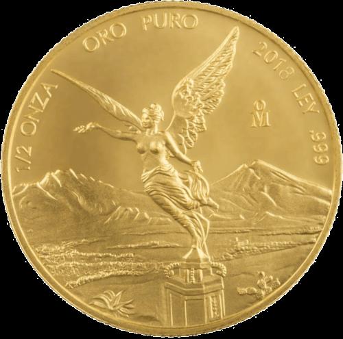 1/2 Unze Gold Mexiko Libertad | Vorderseite der Goldmünze 1/2 Unze Libertad Mexico der Casa de Monada de México