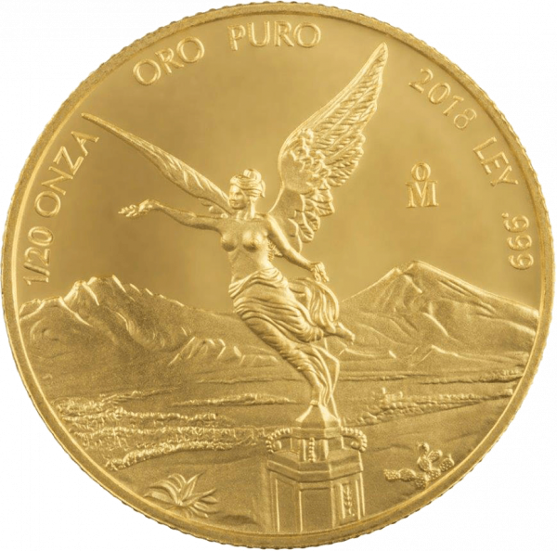 1/20 Unze Gold Mexiko Libertad | Vorderseite der Goldmünze 1/20 Unze Libertad Mexico der Casa de Monada de México
