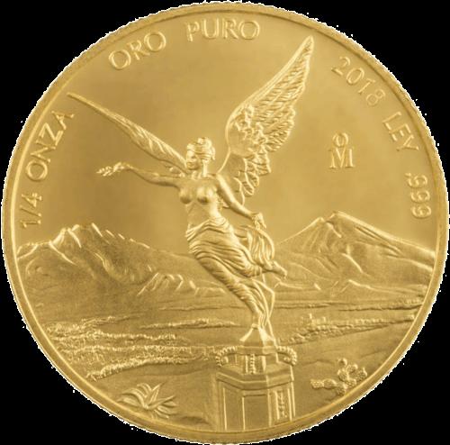 1/4 Unze Gold Mexiko Libertad | Vorderseite der Goldmünze 1/4 Unze Libertad Mexico der Casa de Monada de México