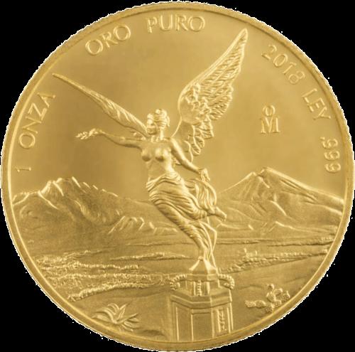 1 Unze Gold Mexiko Libertad | Vorderseite der Goldmünze 1 Unze Libertad Mexico der Casa de Monada de México