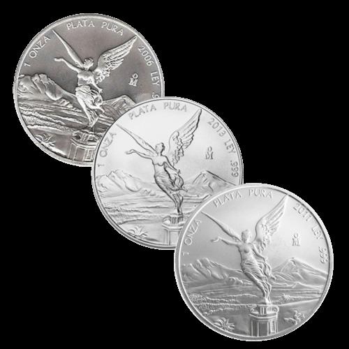 1 Unze Silber Mexiko Libertad diverse Jahrgänge
