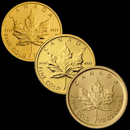 1/10 Unze Goldmünze Maple Leaf | Rückseite Goldmünze 1/10 Unze Maple Leaf von The Royal Canadian Mint