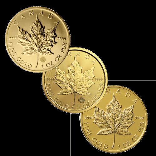 1 Unze Gold Maple Leaf diverse Jahrgänge (lagernd Frankfurt)