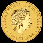 Rückseite der Kängurumünze 1 Unze Gold Australien | Rückseite der 2014er Kängurumünze 1 Unze Gold der Perth Mint Australia