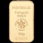 50 g Goldbarren Heraeus