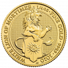 1/4 Unze Gold The Queen´s Beasts - White Lion of Mortimer 2020