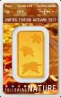 1 Unze Goldbarren Heraeus Following Nature 2017 Herbst