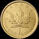 1/2 Unze Gold Maple Leaf