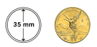 Münzkapsel 35 mm für 1 oz Gold Mexiko Libertad