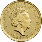 1/2 Unze Gold Britannia diverse Jahrgänge