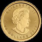Rückseite der 1/4 Unze Goldmünze Maple Leaf | Rückseite Goldmünze 1/4 Unze Maple Leaf von The Royal Canadian Mint