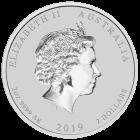 2 Unzen Silber Lunar II Schwein 2019