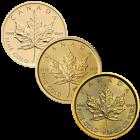 1/4 Unze Gold Maple Leaf diverse Jahrgänge