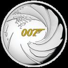 1 Unze Silber 007 James Bond 2020 - Polierte Platte/High Relief