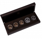 Vintage Set 5x 1 Unze Krügerrand Gold/Silber/Platin in Proof-Qualität