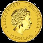 Rückseite der Kängurumünze 1/10 Unze Gold Australien | Rückseite der Kängurumünze 1/10 Unze Gold der Perth Mint Australia
