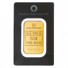 50 g Goldbarren Rand Refinery