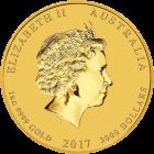 1 kg Gold Lunar Hahn 2017