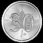 1 Unze Silber Maple Leaf 30th Anniversary 2018