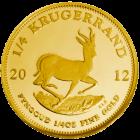 Vorderseite der 1/4 Unze Goldmünze Krügerrand | Vorderseite Goldmünze Krügerrand 1/4 Unze von South African Mint