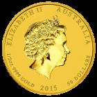 1/2 Unze Gold Lunar Ziege 2015