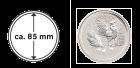 Münzkapsel 85 mm für 10 oz Silber Lunar II