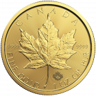 1 Unze Gold Maple Leaf 2017