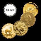 Münzkapseln Gold 1 Unze 33 mm