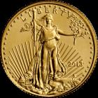 Vorderseite der 1/10 Unze Goldmünze American Eagle | Vorderseite der Goldmünze 1/10 Unze American Eagle von The United States Mint