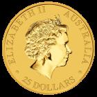 Rückseite der Kängurumünze 1/4 Unze Gold Australien | Rückseite der Kängurumünze 1/4 Unze Gold der Perth Mint Australia