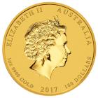 1 Unze Gold Lunar Hahn 2017