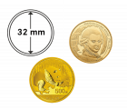 Münzkapsel 32 mm für 1 oz Gold Mozart, 30g Gold China Panda