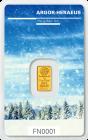1 g Goldbarren Heraeus Following Nature 2017/18 Winter
