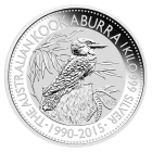 1 kg Silber Kookaburra 2015