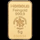 5 g Heraesu Goldbarren