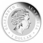Rückseite der 1 Unze Silbermünze Kookaburra | Rückseite der 1 Unze 2014 Silbermünze Kookaburra von The Perth Mint Australia