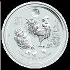 1 Unze Silber Lunar Hahn 2017 Privy Mark Löwe