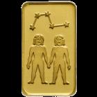1 g Goldbarren Sternzeichen Zwilling