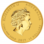 1/10 Unze Gold Lunar Hahn 2017