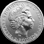 1 Unze Silber Britannia | Rückseite der Britannia Silbermünze 1 Unze der Royal Mint