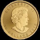 Rückseite der 1/2 Unze Goldmünze Maple Leaf | Rückseite Goldmünze 1/2 Unze Maple Leaf von The Royal Canadian Mint