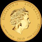 1 kg Gold Lunar II Schwein 2019