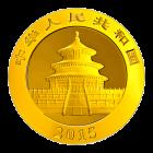 1/2 Unze China Panda Gold 2015 (200 Yuan) / Rückseite