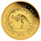 Vorderseite 1 kg Gold Australien Känguru | Vorderseite Goldmünze 1 Kilogramm Australian Kangaroo der Perth Mint Australia